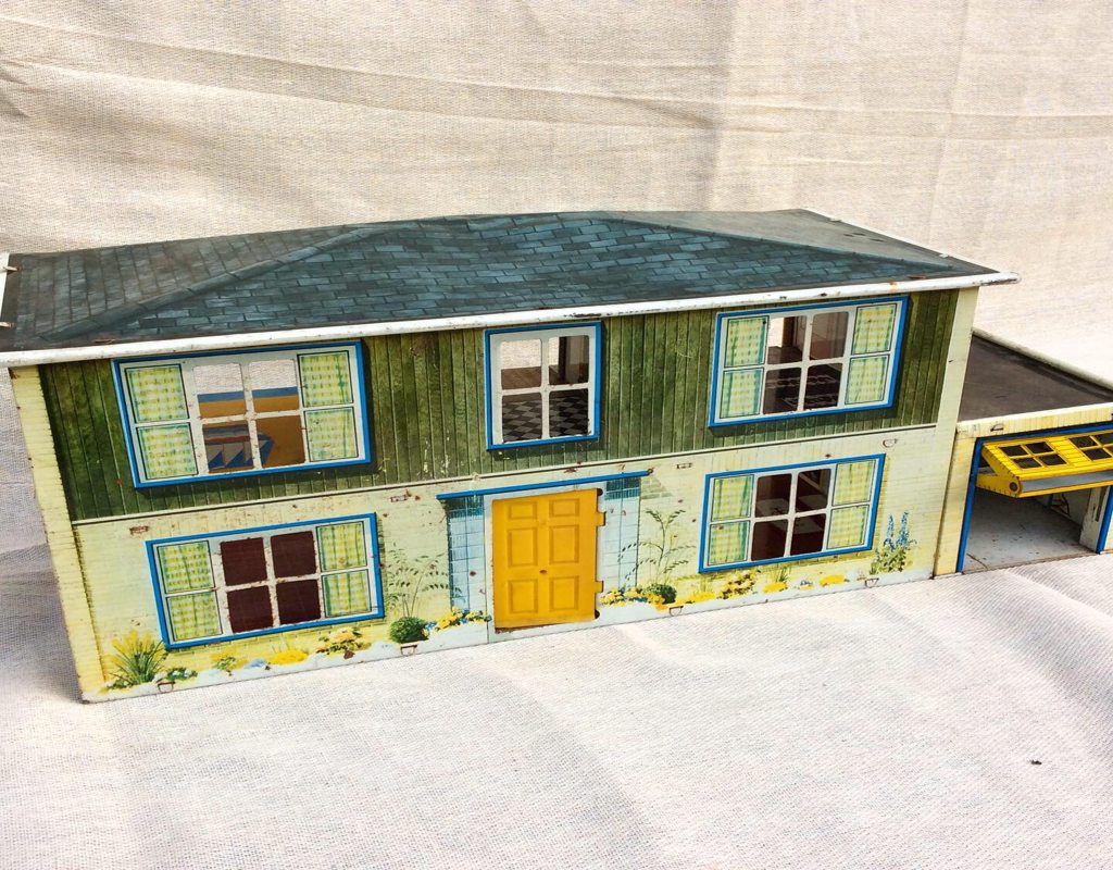 1960's Tin Plate Dolls House. Possibly Chad Valley.