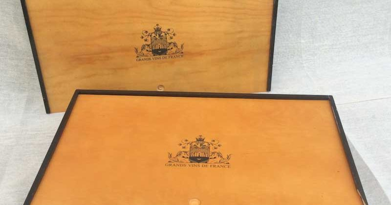 """Pair of """"French"""" Wooden Wine Boxes"""
