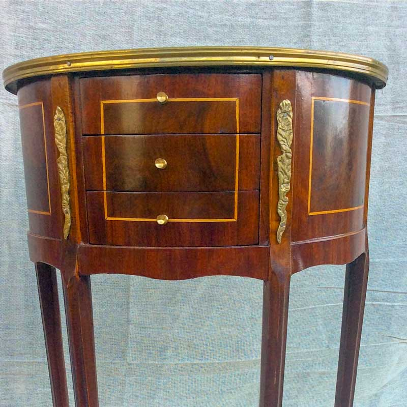 Reproduction French Style Bedside Tables, pair, in very good condition.